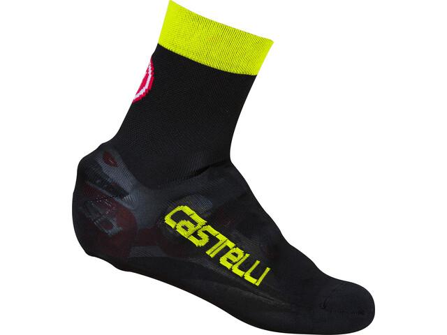 Castelli Belgian 5 Skoovertræk, black/yellow fluo